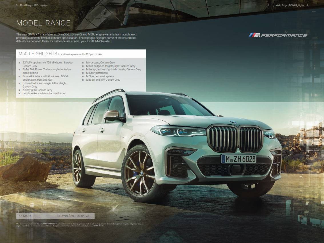 2019 BMW X7 Brochure (UK version)