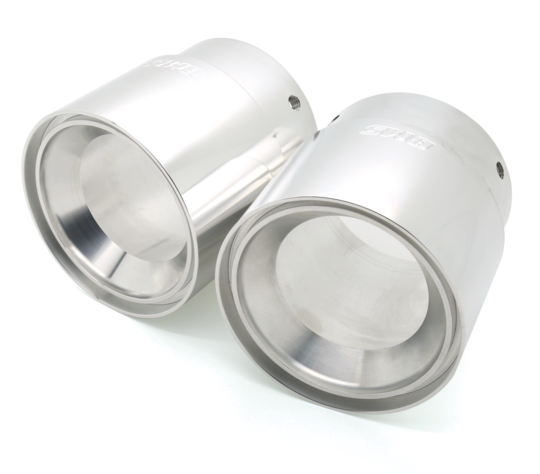 BMS Billet Exhaust Tips for E9x 335 Silver ZA