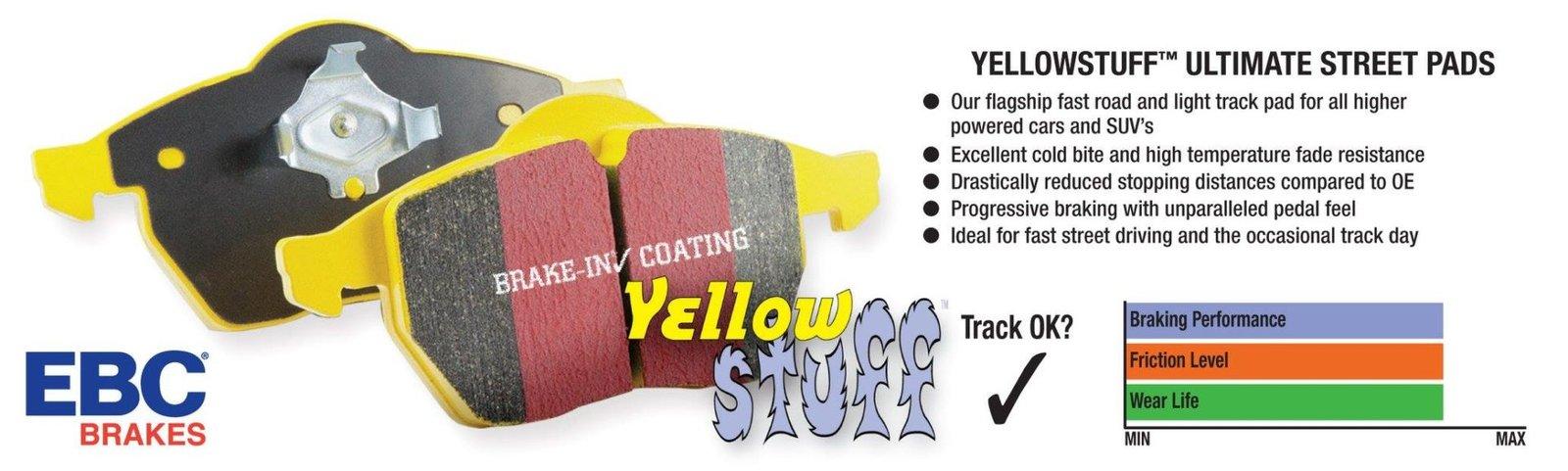 EBC Yellowstuff Pads Via TrackRecon
